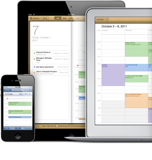 Calendari sincronizzati con iCloud - Credits: courtesy of Apple