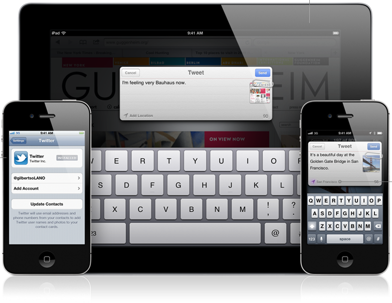 Il supporto a Twitter in iOS5  - Credits: courtesy of Apple
