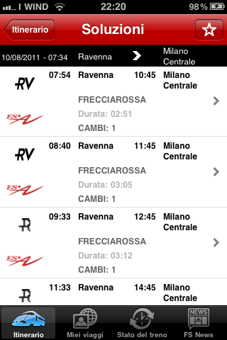 ProntoTreno per iPhone