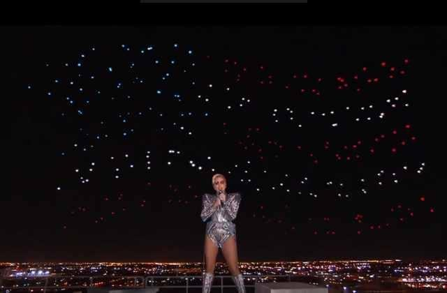 Droni Superbowl Lady Gaga