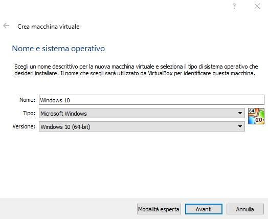 Windows 10 Virtual Box