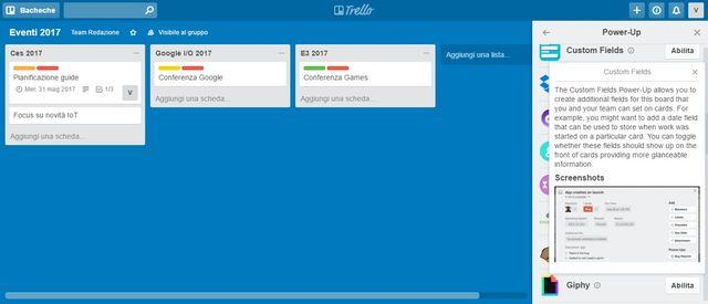 Trello, la guida: i power up