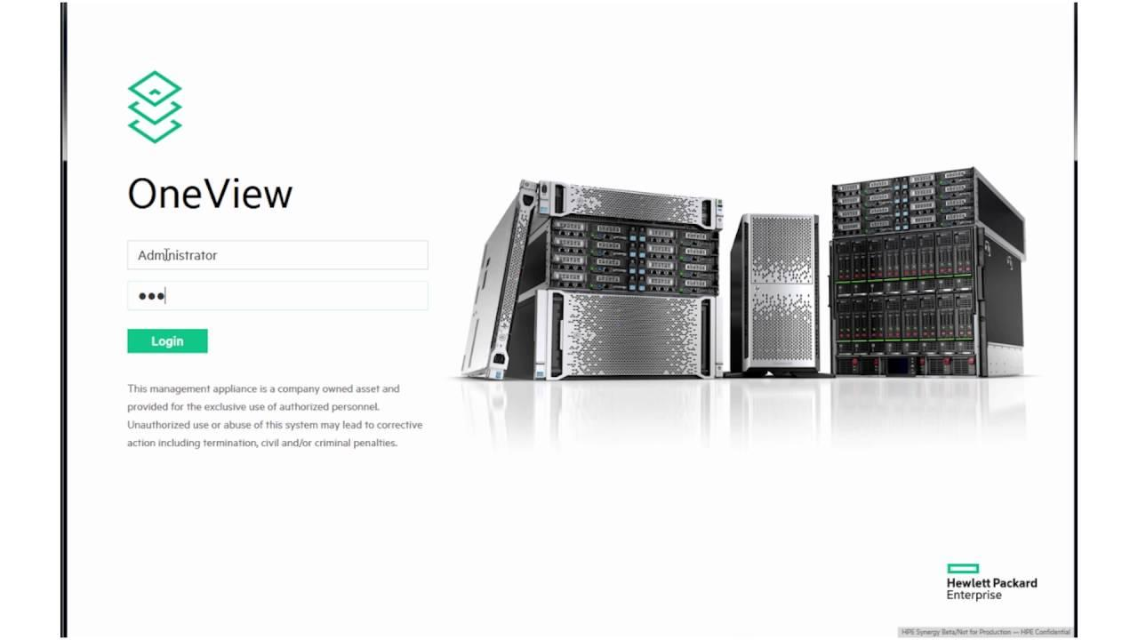 HPE OneView 4.0