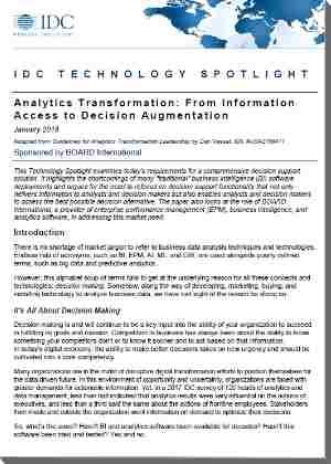 idc technology spotlight decision making