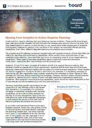 ventana Research Viewpoint Planning in Analytics 2019